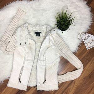 Arden B. Fluffy Light Cream Jacket